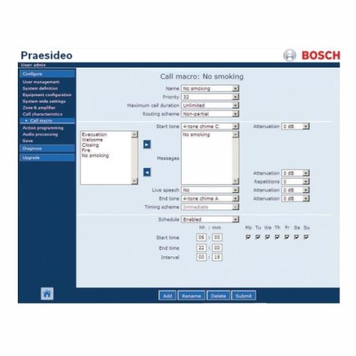 Bosch Praesideo Praesideo Software (for PRS-NCO3)