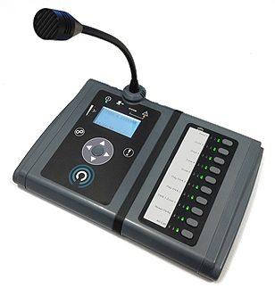 ASL MPS Desk Paging & Emergency Mic - 1 Button - Gooseneck