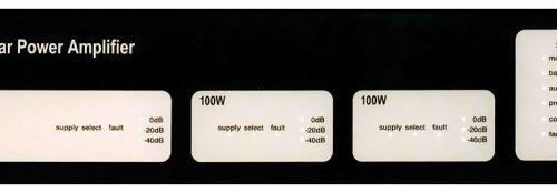 ASL V400 Front Panel For V400 Amplifier Mainframe - 2*M100